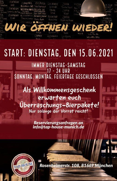 Öffnung 15.06.2021
